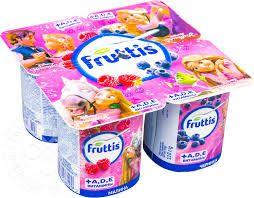 Продукт йогуртный Фруттис 2,5% детский паст.малина/черника с витаминами 110г Кампина