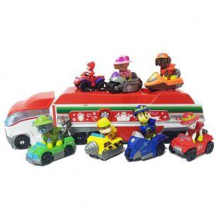 Игровой набор Мини патрулевоз Щенячего Патруля и команда из 6-ти спасателей и Райдера