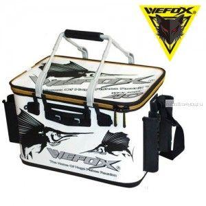 Сумка рыболовная Wefox EVA WEX 5005 / 36см с держателями для удилища, черно - белая