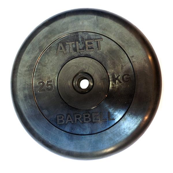 Диски обрезиненные, чёрного цвета, 26 мм, Atlet MB-AtletB26-25