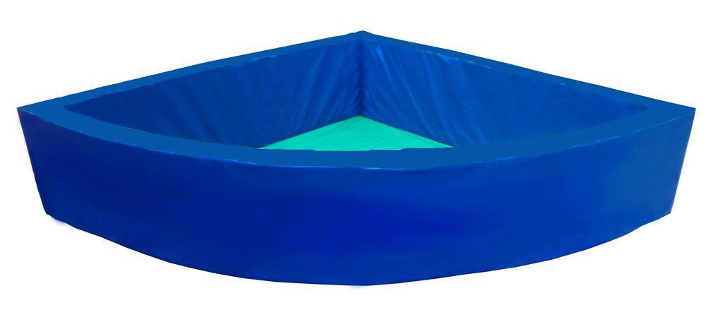 Сухой бассейн угловой без аппликации 2х2х0,5м