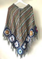 Теплое женское вязаное повседневное пончо. Интернет-магазин, Москва