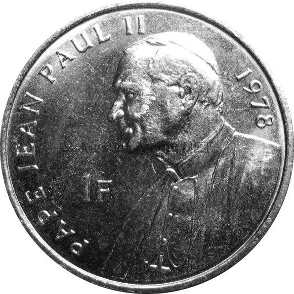 Конго 1 франк 2004 г. KM#158