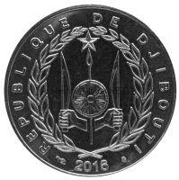 Джибути 50 франков 2016 г.