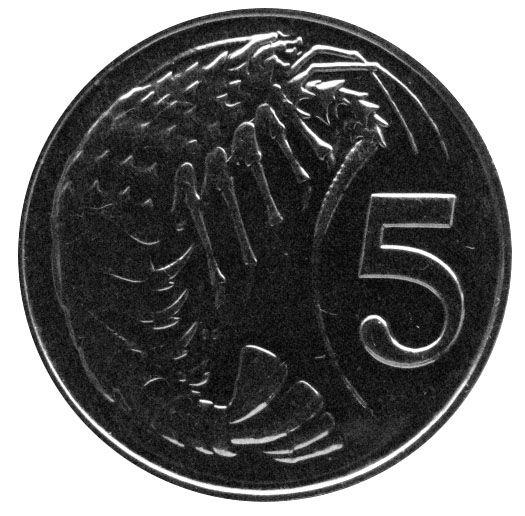Каймановы острова 5 центов 2013 г.
