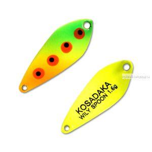 Блесна Kosadaka Trout Police Wily Spoon 1,6гр / 27мм /цвет: D05