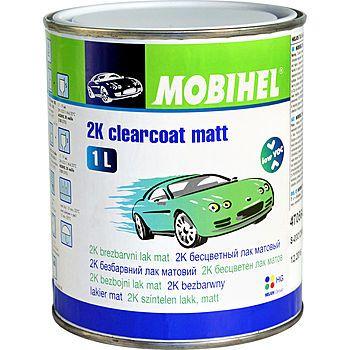 MOBIHEL 2К бесцветный матовый лак low VOC, 1л.