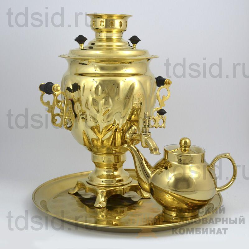 Набор «Жёлудь» самовар 3л, поднос, чайник