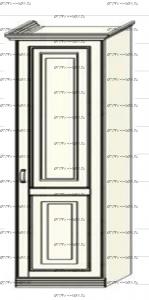 Шкаф-пенал (колонка) Ферсия, мод. 7 для белья (Б) или платья (П) МДФ