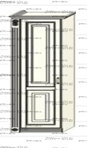 Шкаф-пенал (колонка) Ферсия, мод. 10 для белья (Б) или платья (П) МДФ
