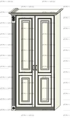 Шкаф 2-дверный Ферсия, мод. 26 МДФ с 1 пилястрой слева