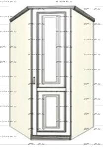 Шкаф угловой (трапеция) равносторонний Ферсия, мод. 31 МДФ