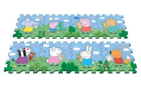 """Коврик-пазл Peppa Pig """"Пеппа и друзья"""",8 сегм."""