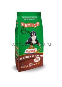 CLAN FAMILY сухой корм для взрослых собак всех пород ягнёнок с рисом