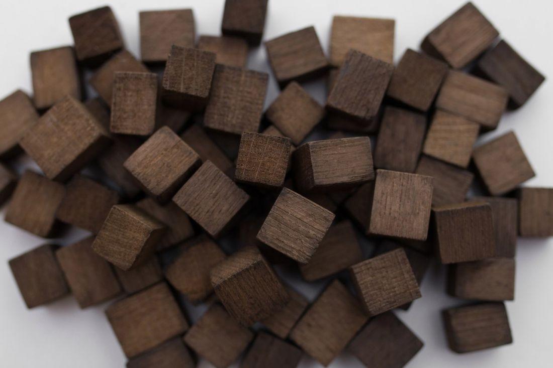 Дубовые кубики, средний обжиг, 100 гр