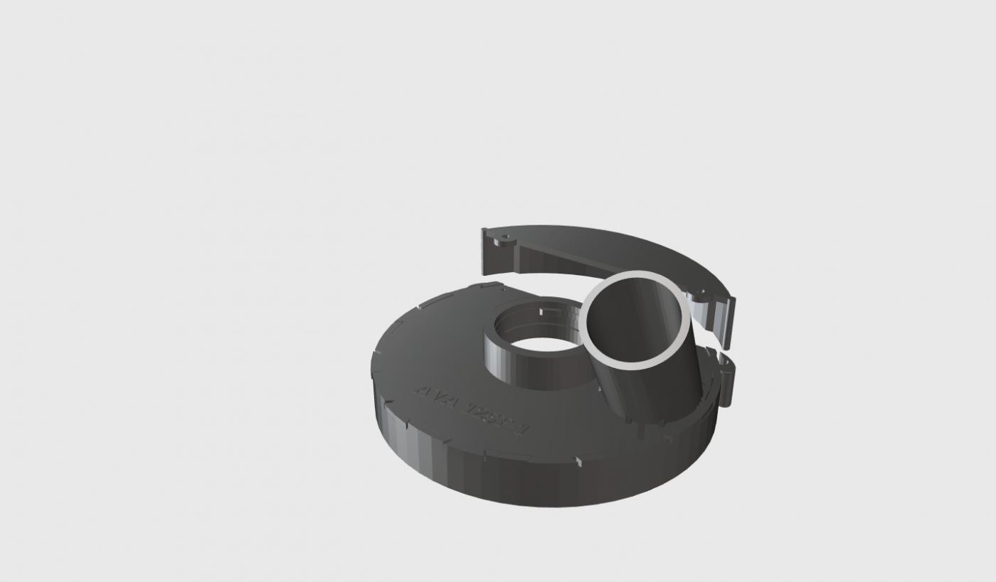 Пылеотводящий кожух для УШМ Фиолент  AVA 125F-1PRO