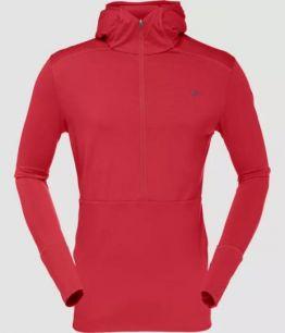 Norrøna wool Hoodie (M) red