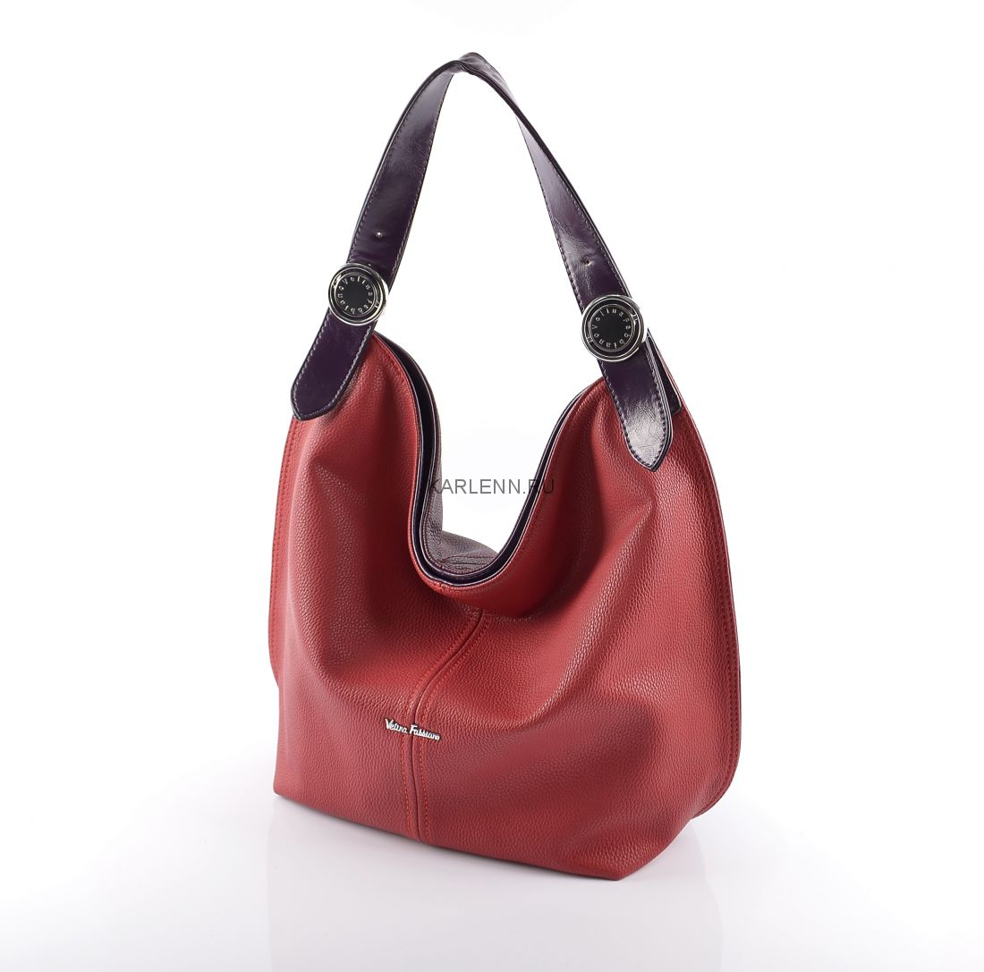 Сумка-мешок Velina Fabbiano (красно-бордовая)