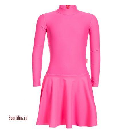 платье из бифлекса розовое