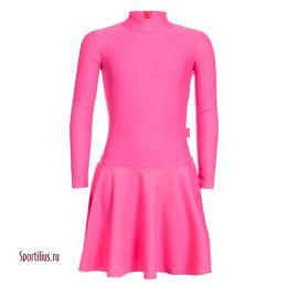 Платье из бифлекса, розовое