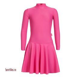 Платье из бифлекса малиновое