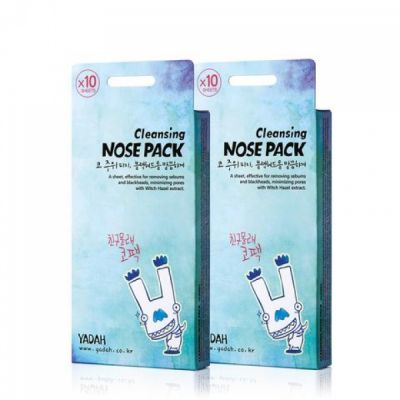 Полоски очищающие для носа набор YADAH CLEANSING NOSE PACK 10шт