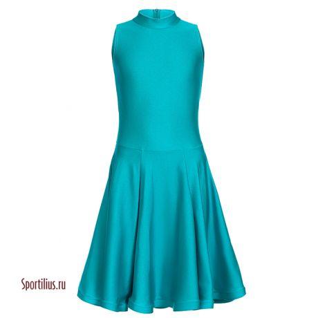 Рейтинговое платье бирюзовое