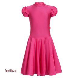 Платье для танцев малинового цвета
