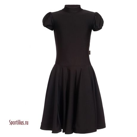 детское платье для бальных танцев черное