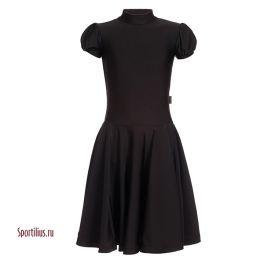 Платье для бальных танцев черное