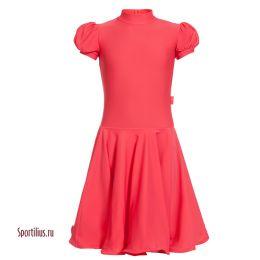 Детское платье для танцев, красное