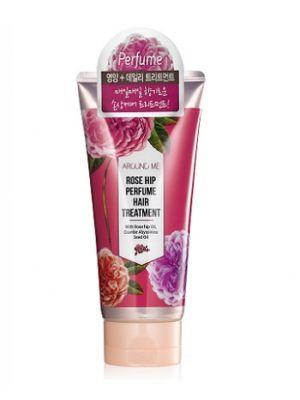 Маска для поврежденных волос с экстрактом шиповника Welcos Around me Rose Hip Perfume Hair Treatment