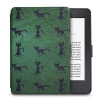 Чехол-обложка  для Amazon Kindle Paperwhite (Зеленая Кошка)