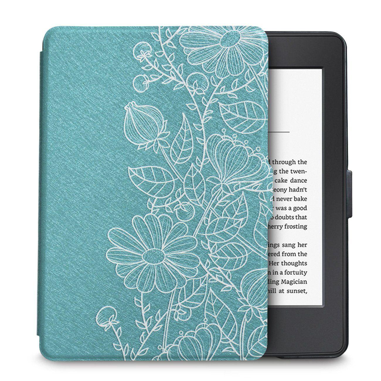 Чехол-обложка  для Amazon Kindle Paperwhite (Весенние цветы)