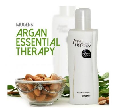 Эссенция для волос с аргановым маслом и протеинами шелка Welcos Mugens Argan Essential Therapy