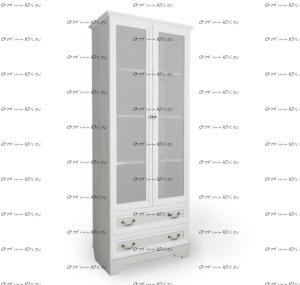 Шкаф-стеллаж 2-дверный со стеклянными дверцами Классика (88х59х206)