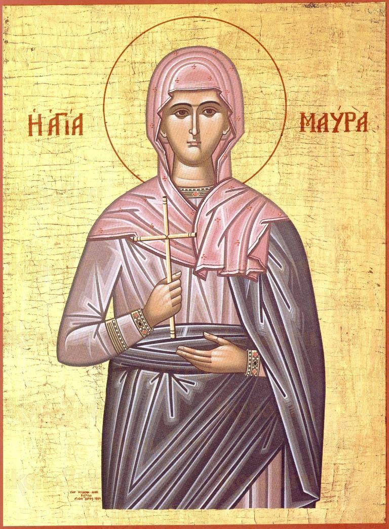 Икона Мавра Фиваидская (копия старинной)
