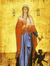 Икона Маргарита Антиохийская (копия старинной)