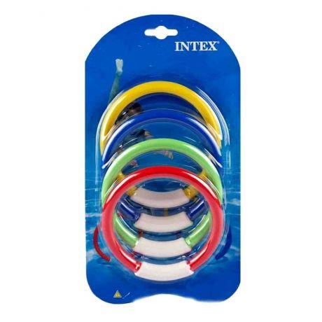 Подводные кольца Intex в наборе 4 цвета 55501