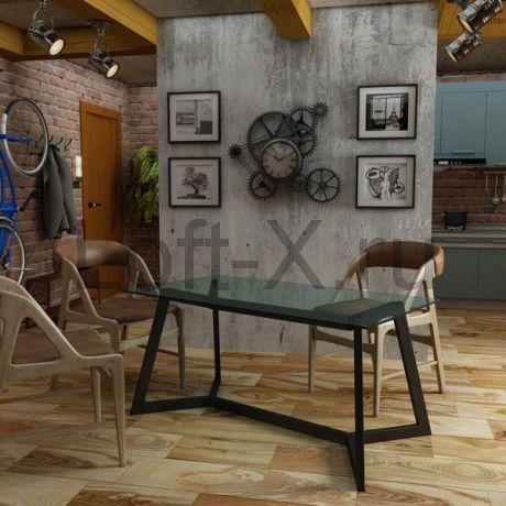 """Обеденный стол """"Shevy"""" со стеклянной столешницей"""
