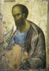 Икона Апостол Павел 15 век (А. Рублев)