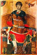 Икона Дмитрий Солунский (копия 12 века)