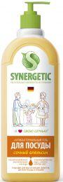 """""""Synergetic"""" Средство биоразлагаемое для мытья посуды, детских игрушек с ароматом апельсина, 1л"""