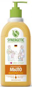 """""""Synergetic"""" Мыло жидкое биоразлагаемое для мытья рук и тела """"Фруктовый микс"""" 0.5л"""