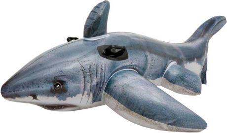 """Надувной плотик с ручками-держателями Intex 57525 """"Большая белая акула"""": 173х107см"""
