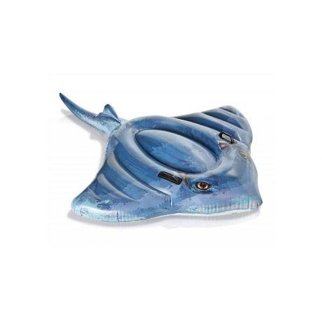 Детский надувной плотик Скат 57550 INTEX 188-145 см две ручки