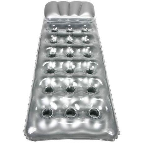 Пляжный надувной матрас Intex 58894, серебристый, с подголовником, 188 х 71 см