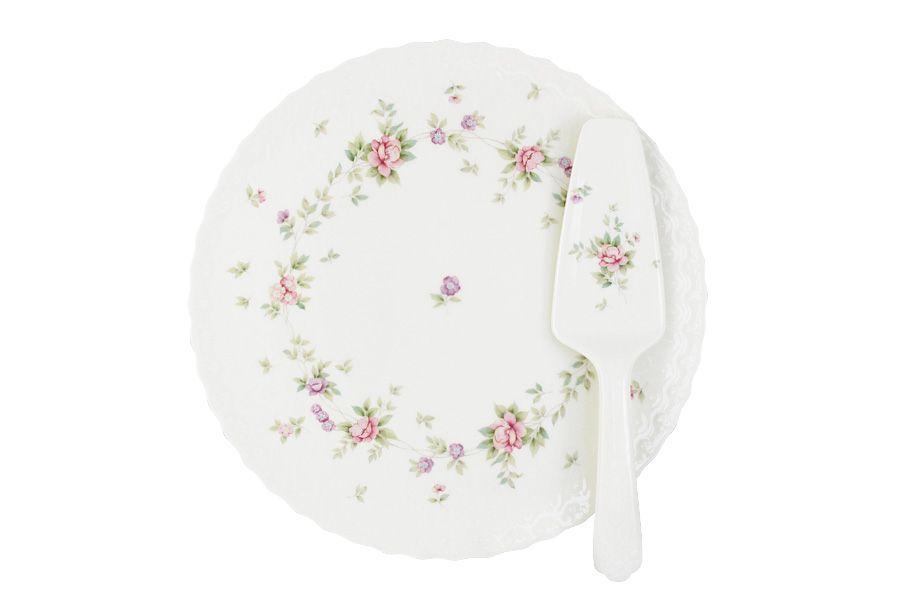 """Набор для торта: блюдо + лопатка """"Воспоминание"""", 29.5 см"""