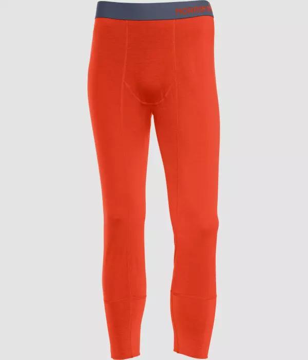 Norrøna Wool 3/4 Longs (M) AREDNALIN RED