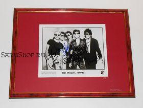 Автографы: The Rolling Stones. Джаггер, Ричардс, Уоттс, Вуд, Уаймен. 1989 г. Редкость